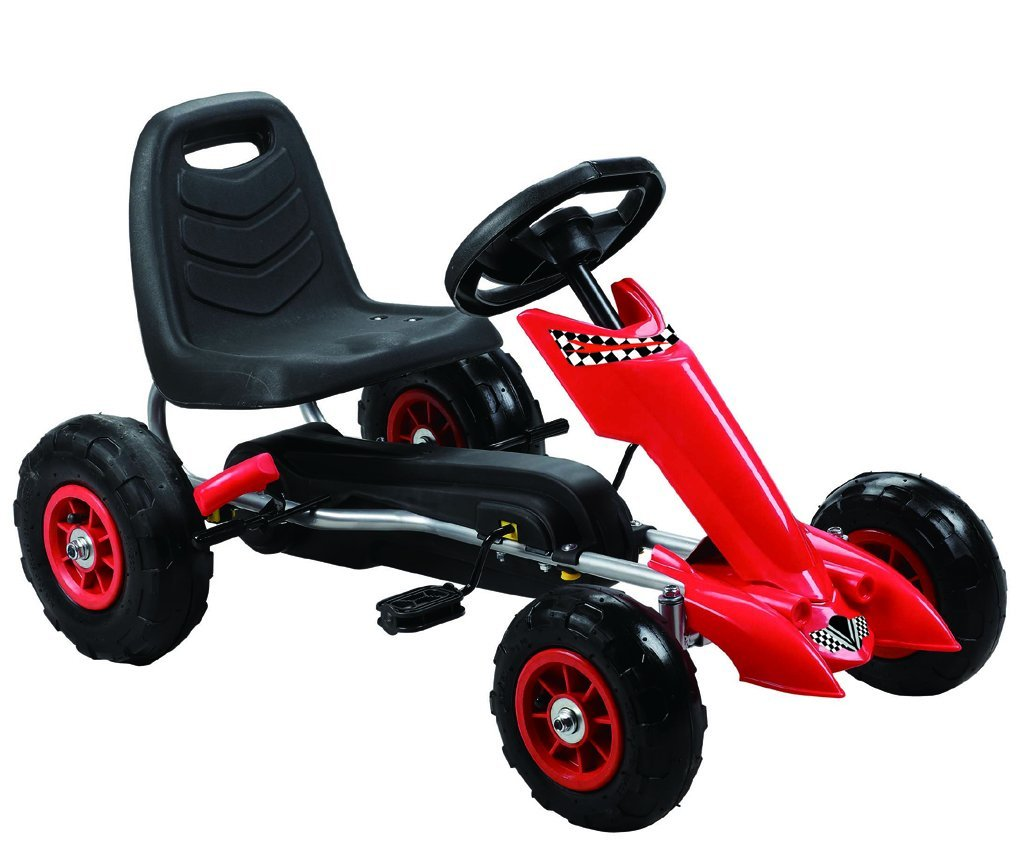 Vroom Rider Zoom Pedal Go-Kart Ride Ons with Pneumatic Tire